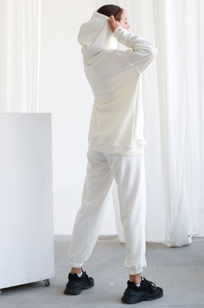 Штаны на резинке на флисе