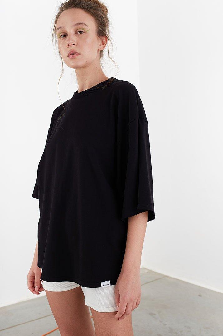 "T-shirt  long black "" Irina Tydnyuk"""