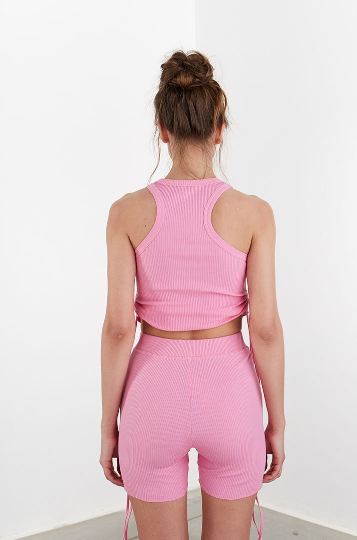 Top on the straps pink