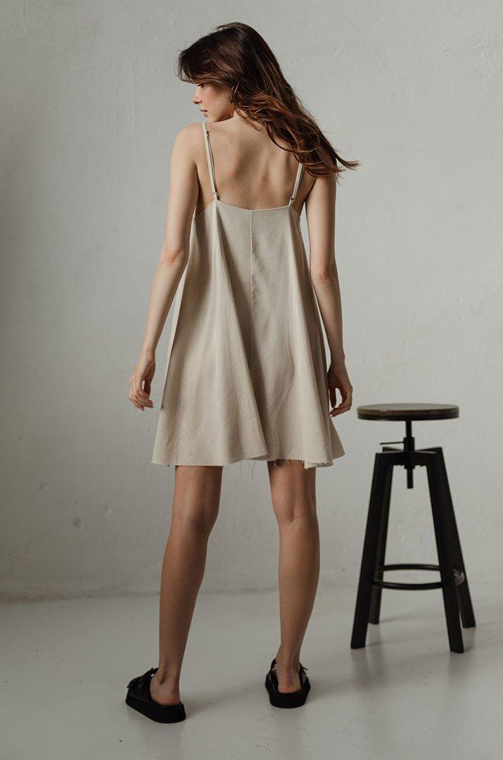 Платье на бретелях mini